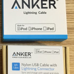 ANKER Lightningケーブル二種類を買ってみた。ANKER社についても調べてみた。
