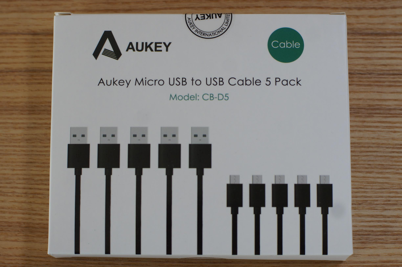 Aukey の激安 MicroUSBケーブルセットを購入しました。ANKERとどちらがいい?