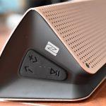 FiBiSonic ワイヤレススピーカー HG013335 を紹介します。アルミ外装のローズゴールドがいい!(記事内に割引コードあります)