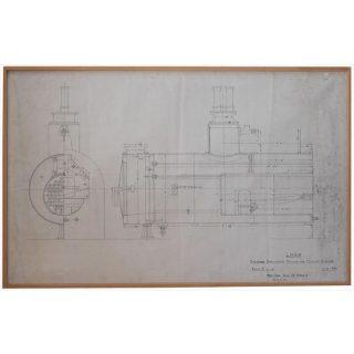鉄オタさん歓喜?ヴィンテージ機関車設計図等をインテリアアートとして発売!