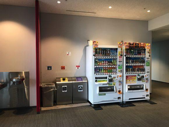 日本科学未来館 自販機と水飲み場