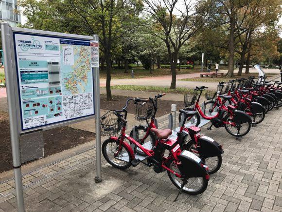 レンタサイクル 日本科学未来館のポート