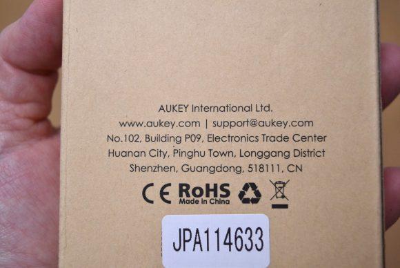 Aukey PB−P24 箱 裏