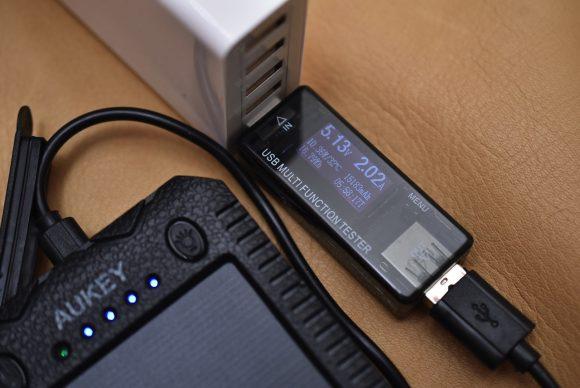 Aukey PB−P24 充電電流