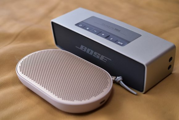 BeoPlay P2 with Bose SoundLink mini