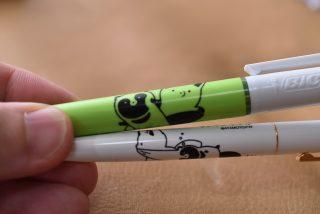 「タヌキとキツネ」BiCボールペンを購入したので紹介します。