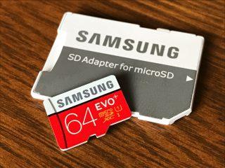 EvaじゃないよEvoだよ。micro SDカード Samsung EVO+ 64GB を購入。エヴァじゃないのが惜しい!