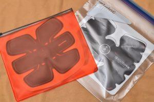 ドクターエア エクサパッド10 保管袋 SIXPAD比較