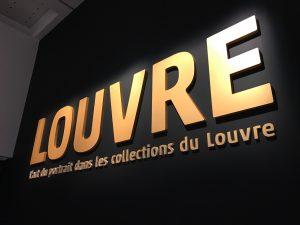 ルーヴル美術館展 肖像芸術 看板
