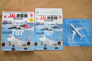 JAL旅客機コレクション創刊号内容物