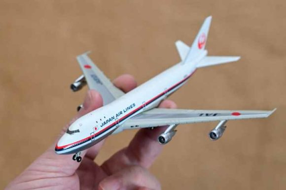 JAL旅客機コレクション2号B747ダイキャストモデル全体