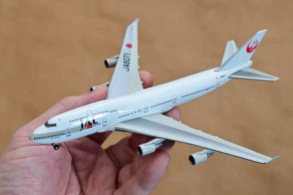JAL旅客機コレクション4号B747ダイキャストモデル全体