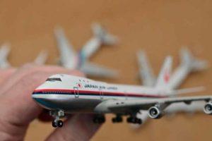 JAL旅客機コレクション2号B747ダイキャストモデル前方