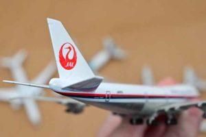 JAL旅客機コレクション2号B747ダイキャストモデル尾翼