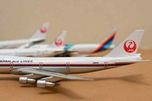 JAL旅客機コレクションのダイキャストモデルたち
