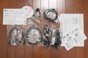 LGモニター27GL850-B同梱物