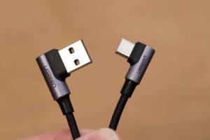 UGREEN USB Type C L字 ケーブル 両方のコネクターがL字