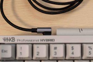 HHKBにUGREEN USB Type C L字 ケーブル を接続