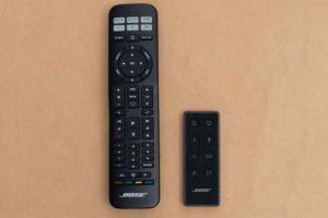 Bose TV Speaker と Solo 5のリモコン比較