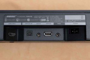 Bose TV Speaker の入力部