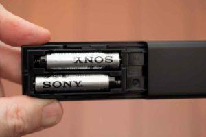 ソニー HD-X8500 付属リモコンの電池