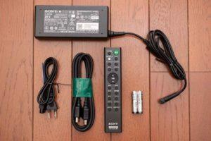 ソニー HD-X8500 付属品