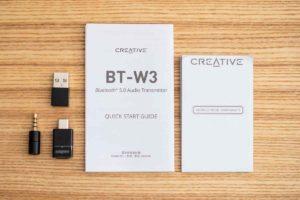 「Creative BT-W3」セット内容