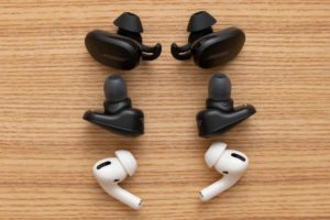 Bose QuietComfort Earbuds 他社サイズ比較