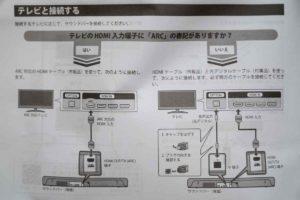 ヤマハSR-C20AのTV接続説明