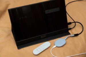 Chromecast with Google TV とモバイルディスプレイ