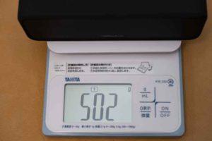 Soundcore 3の重量実測502g