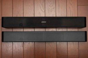Bose Solo Soundbar Series II 正面。Solo5との比較