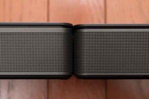 Bose smart Soundbar 300 と TV Speaker の高さ比較