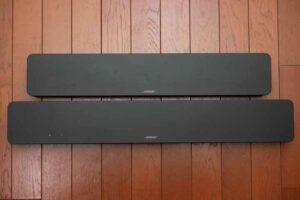 Bose smart Soundbar 300 と TV Speaker の外観比較