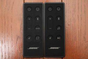 Bose smart Soundbar 300 と TV Speaker のリモコン比較