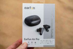 EarFun Air Pro の外箱の表側