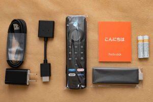 Alexa対応音声認識リモコン(第3世代)付きの第3世代Fire TV Stick 内容物