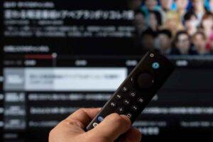 Alexa対応音声認識リモコン(第3世代)では番組表ボタンでabemaの放映中番組を確認できる