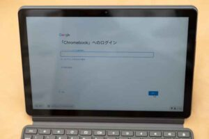 Lenovo IdeaPad Duet Chromebook のログイン画面