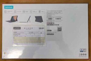 Lenovo IdeaPad Duet Chromebook 外箱裏側