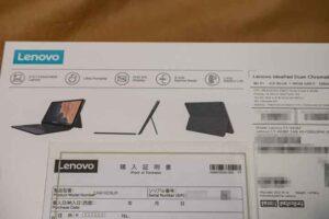 Lenovo IdeaPad Duet Chromebook 外箱の特徴記載内容