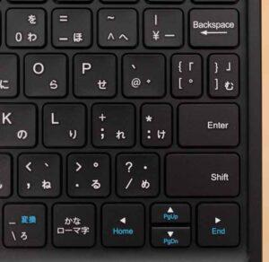 Fire HD 10 2021モデル 「キーボード付きカバー」のエンターキー