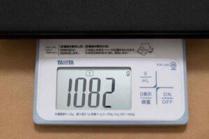 Fire HD 10 2021モデル 「キーボード付きカバー」込みの重量