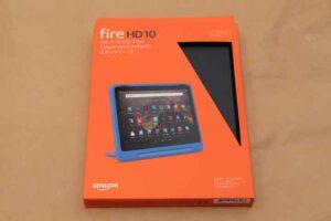 「Fire HD 10/10 Plus(2021)」用純正スタンドケースの外箱