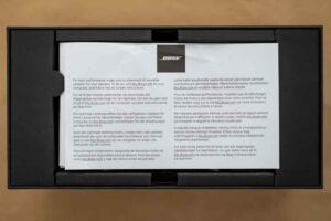 Bose SoundLink Mini II SE 説明書に折れがあった