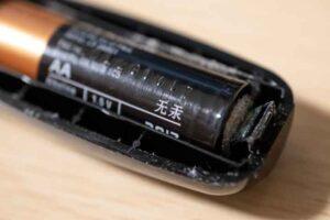 エチケットカッターER-GN11で電池液漏れ