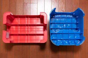 デコラステップ Sと2段式のステップとの比較(裏側)