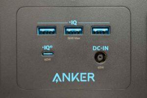 Anker PowerHouse II 400 のパネル中央